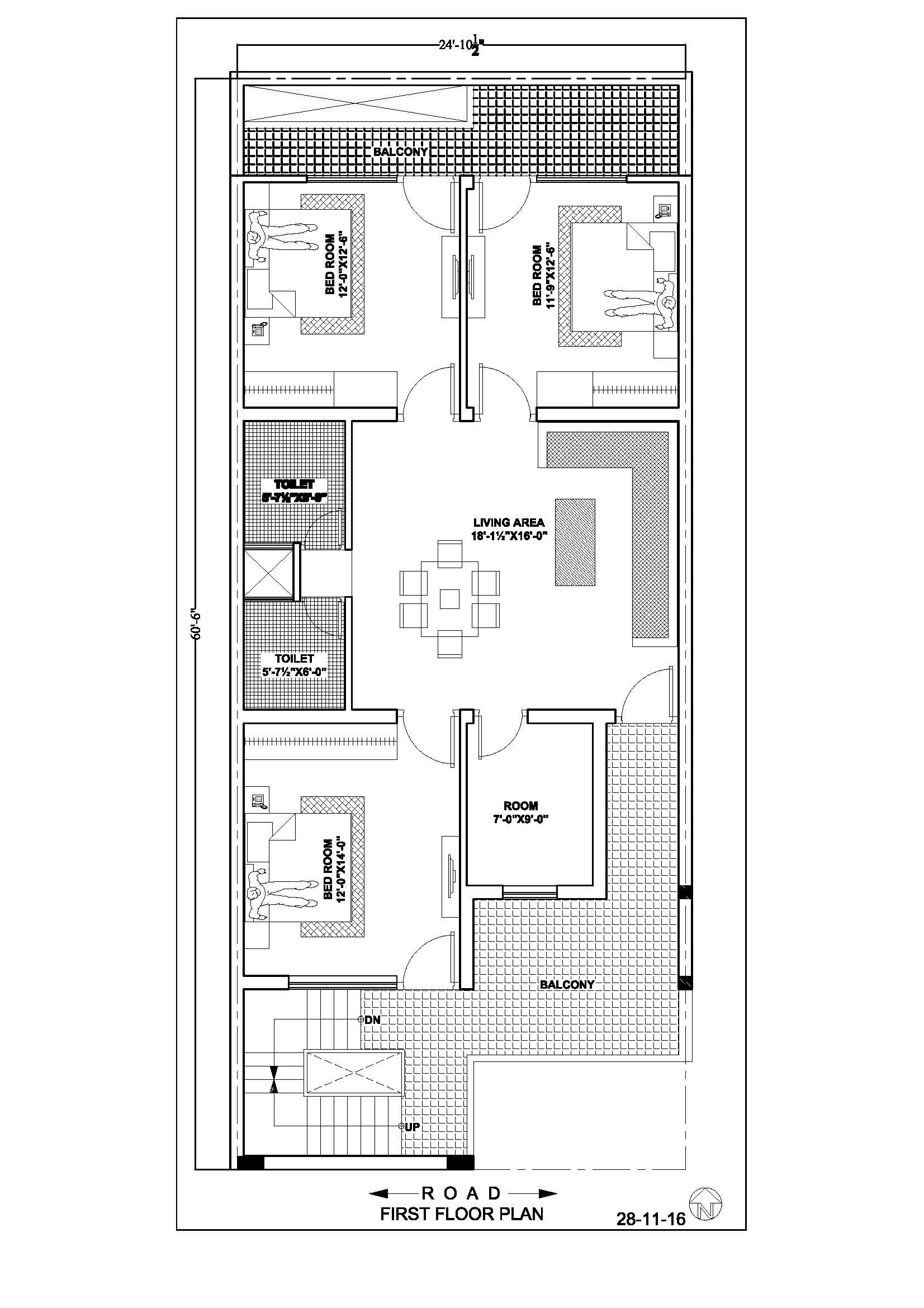 24 60 House Floor Plan Home Design Floor Plans Indian House Plans Model House Plan