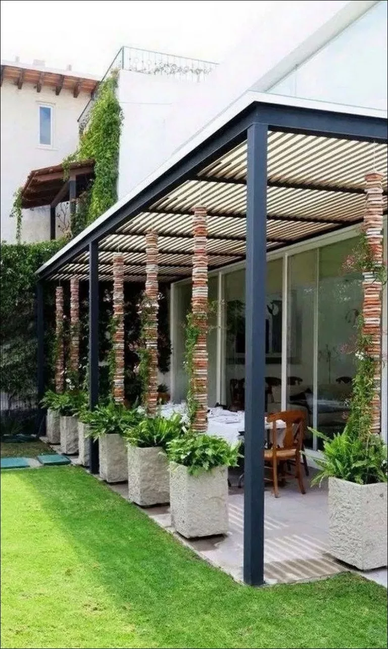 Plan Pergola Bois Couverte 91 the best to set up you patio furniture * inspiratifdesign