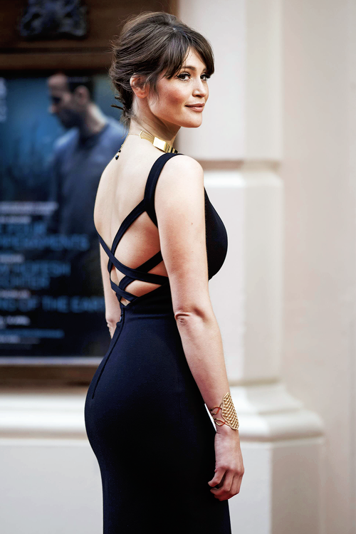 Gemma Arterton Hot Sexy Boobs Cleavage Sexy Booty Ass Olivier Awards 2015