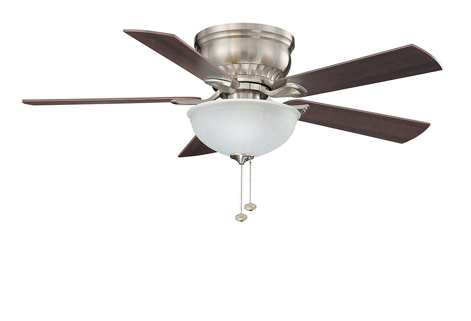 Crosley 44 Inch Ceiling Fan With Light Kit Brushed Nickel Finish With Maple Walnut Blade Fi In 2021 Ceiling Fan With Light Ceiling Fan Room Air Conditioner Portable