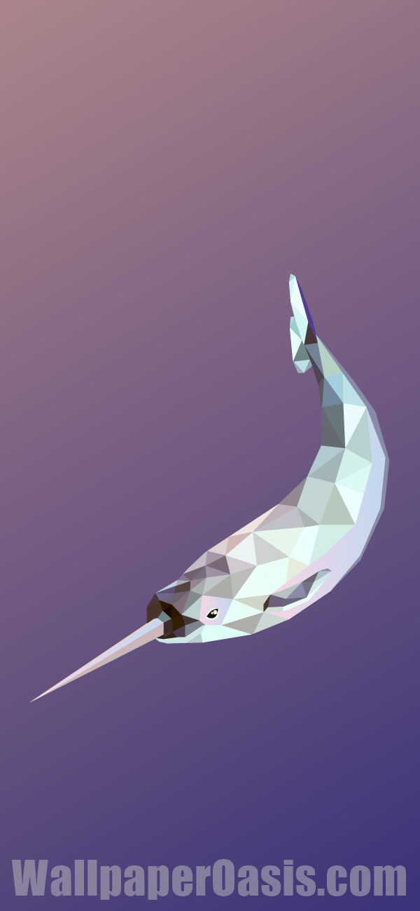 Free Geometric Narwhal Iphone Wallpaper This Design Is Available For Iphone 5 Through Iphone X Get This Background Narwhal Iphone Wallpaper Geometric Animals