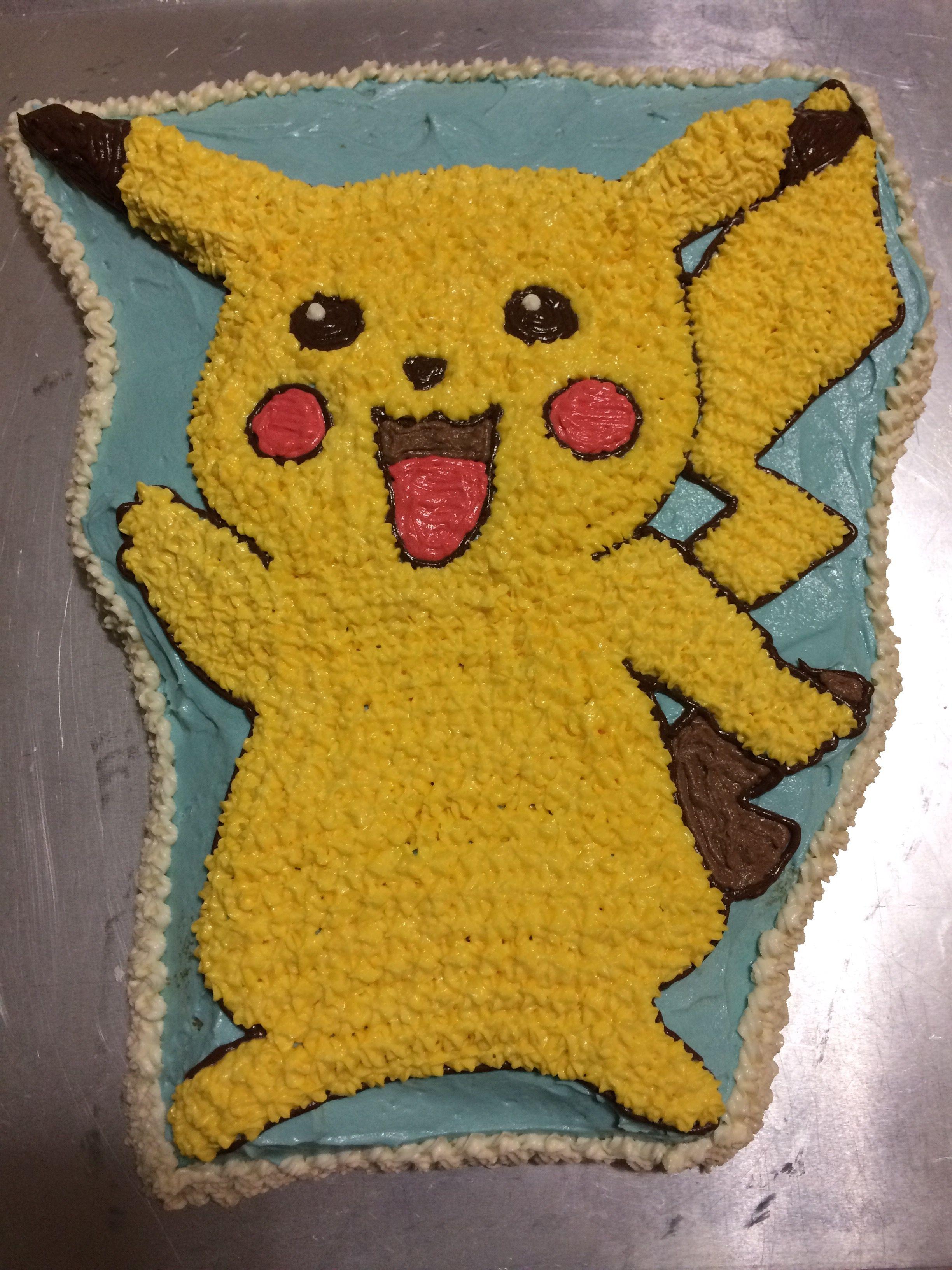 Pikachu Cake Using Wilton Cake Pan And Decorating