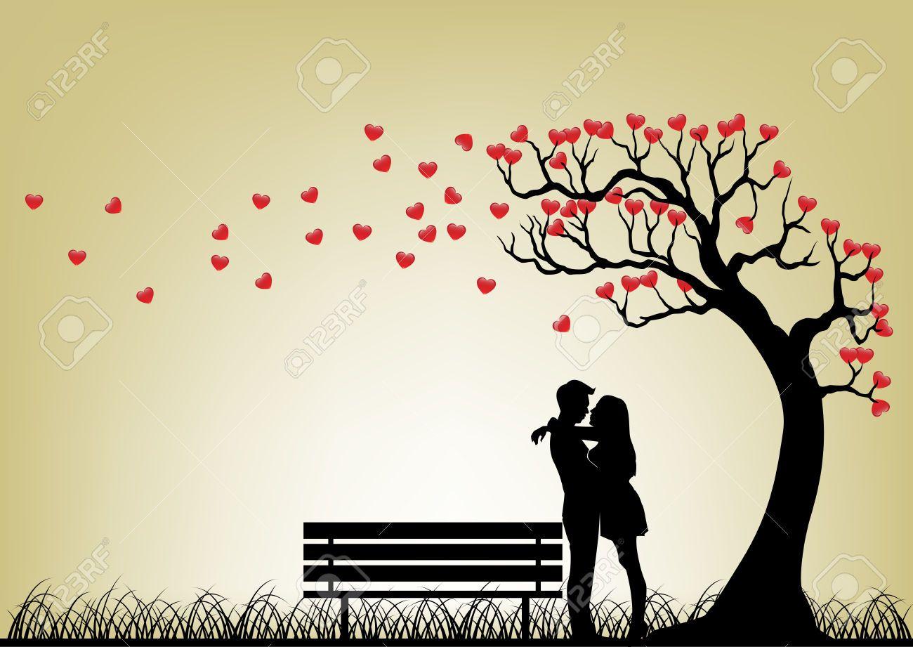 romantic couple stock