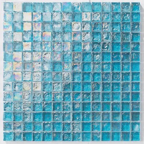Iridescent Pool Glass Tile Turquoise