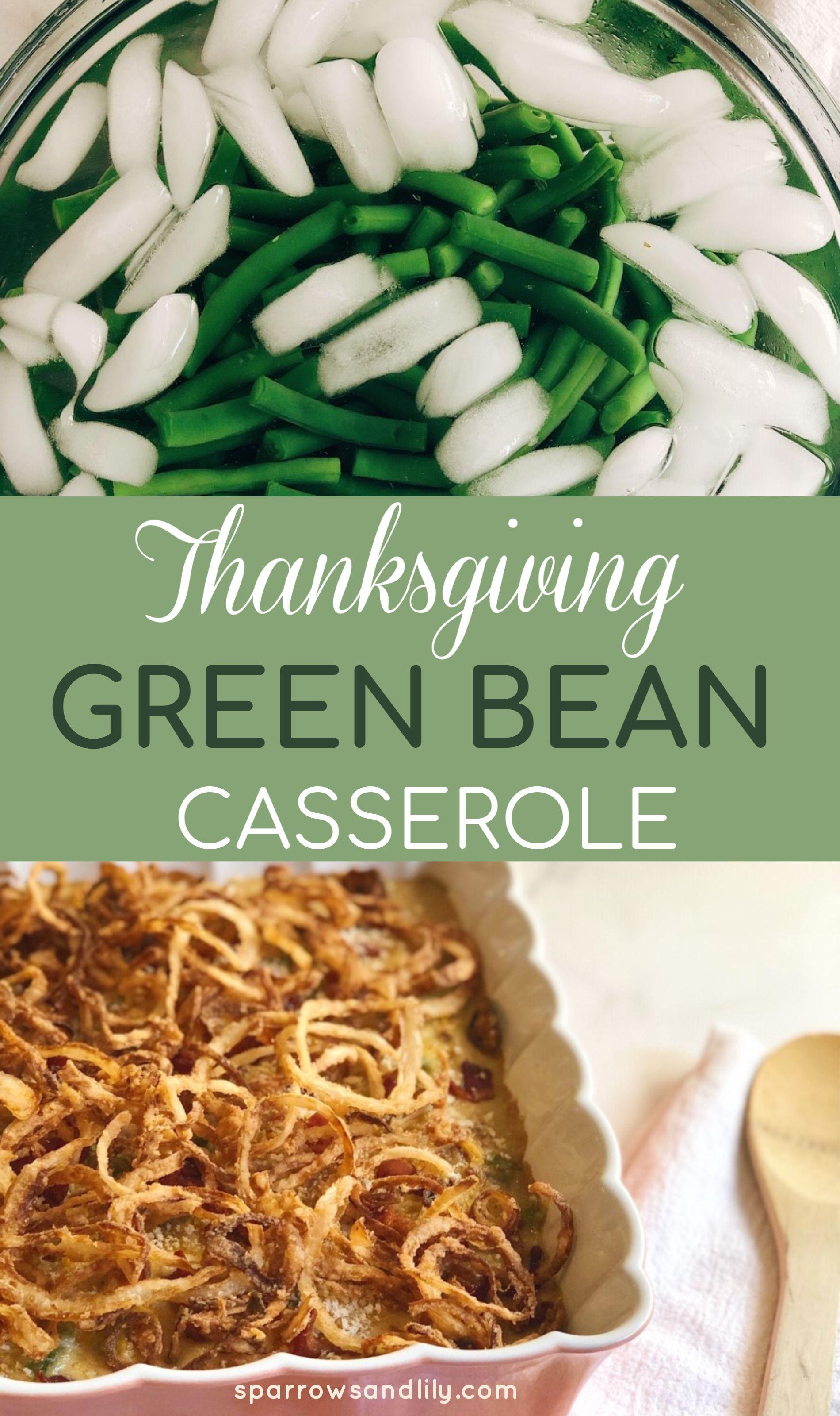 Thanksgiving Green Bean Casserole  #greenbeancasserole