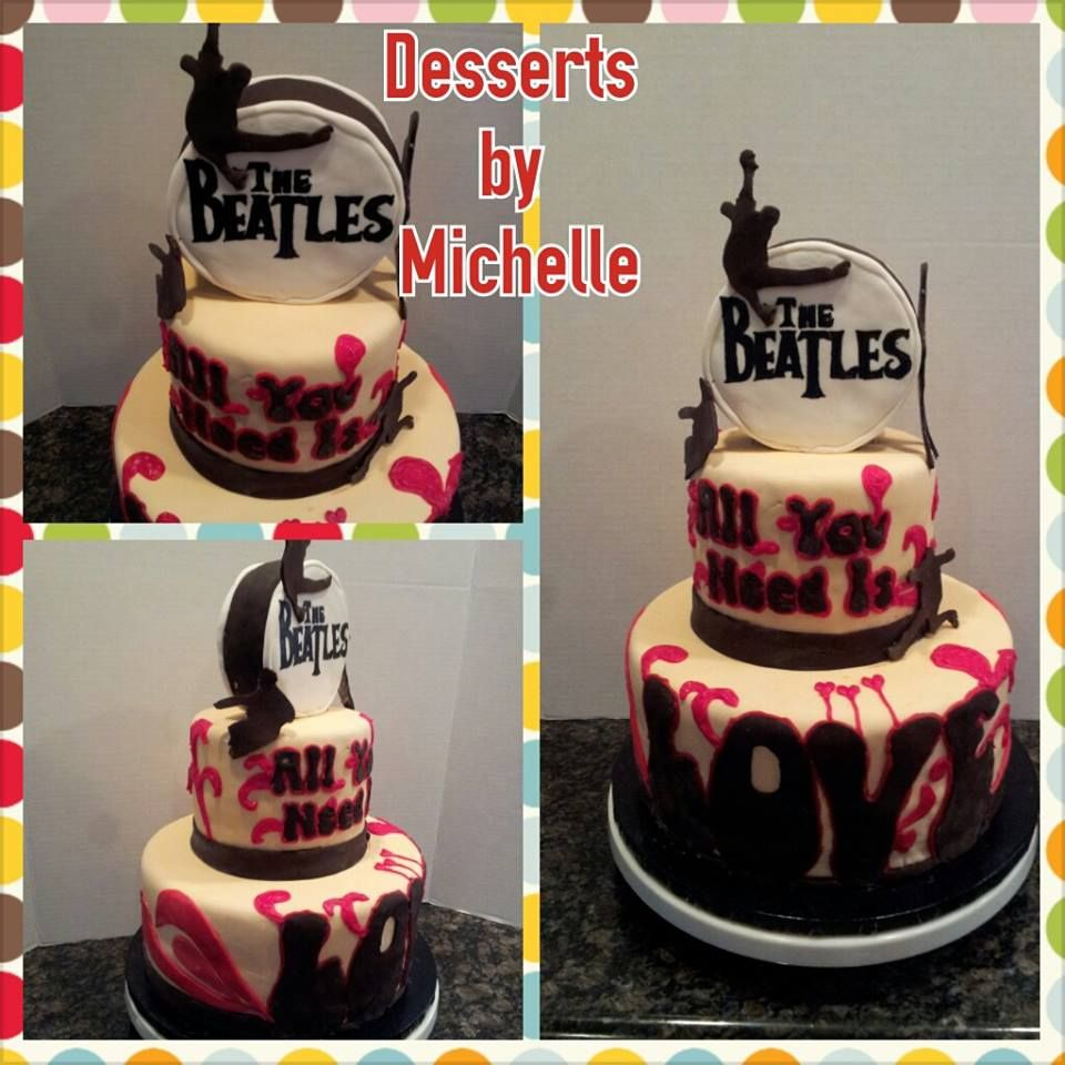 """Beatles cake """"All You Need Is Love"""""""