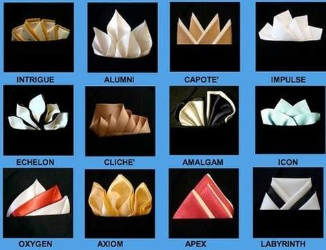 Different Ways to Fold a Pocket Square
