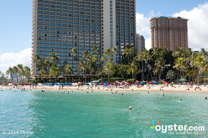 The Hilton Hawaiian Village sits on a half-mile stretch of Waikiki's beautiful turquoise beach known as Fort DeRussy. Protected by a coral reef, it's wider and calmer than the main beach.