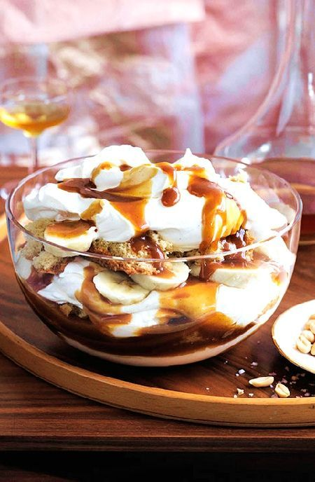 Low FODMAP Recipe and Gluten Free Recipe - Chocolate, salted caramel & banana mess http://www.ibs-health.com/low_fodmap_chocolate_salted_caramel_banana.html