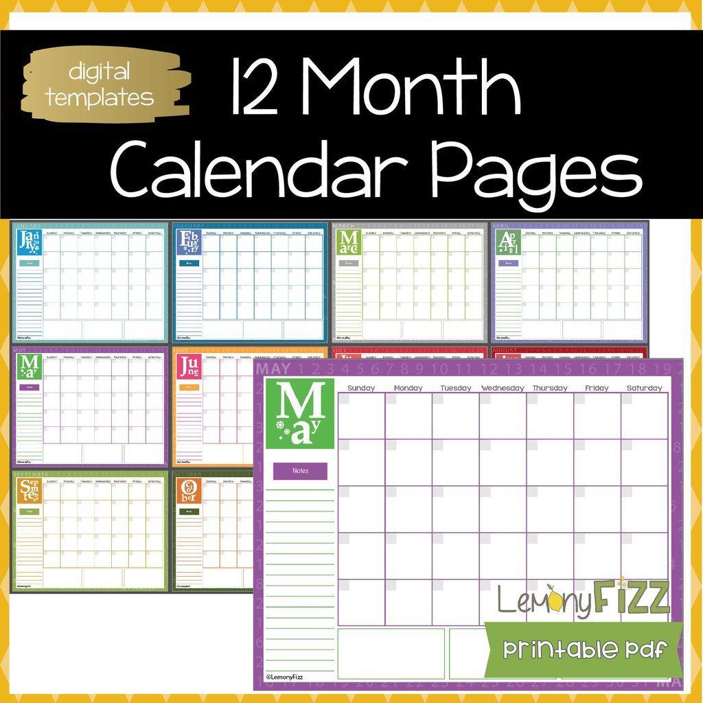 May 15, 2021 matthew prado calendar example 0. 12 Month Calendar Pages   Calendar pages, Printable ...