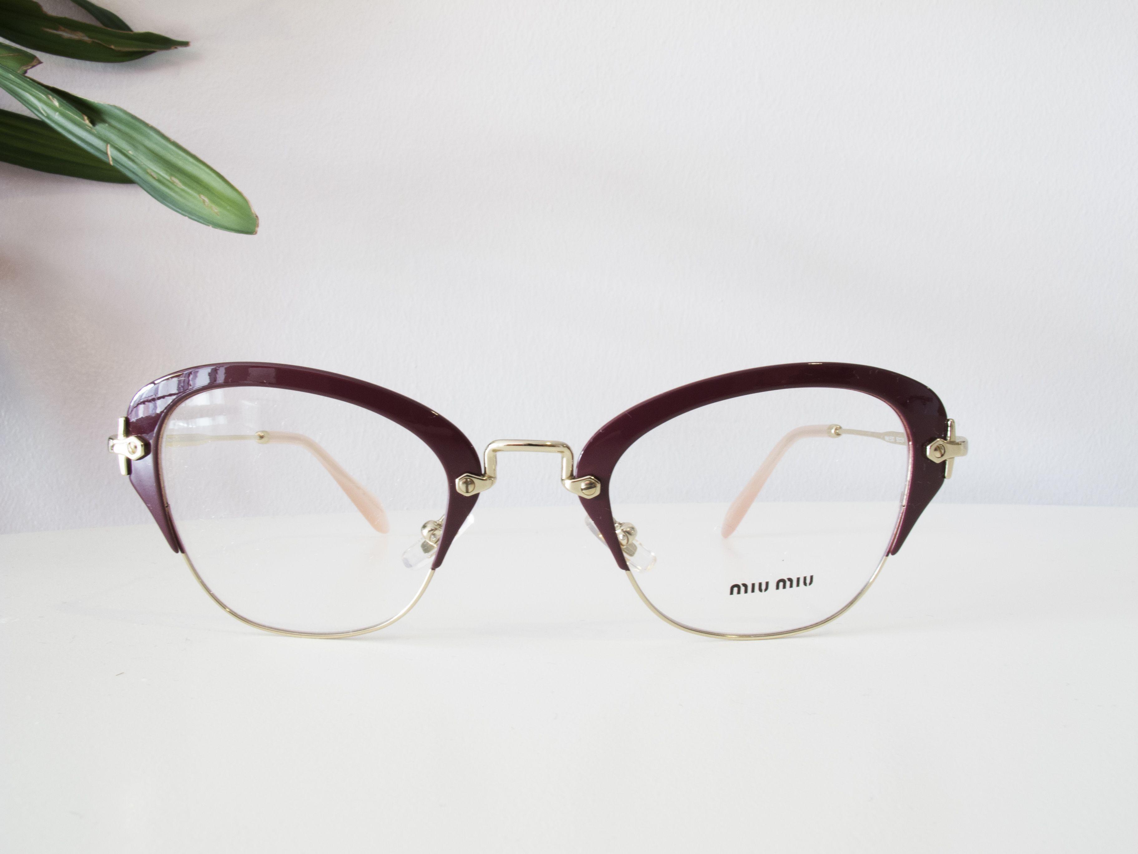 4cb9d0c0da66 Beautiful Miu Miu Glasses in Amaranth. Miu Miu is the little trendy sister  brand of Prada. Here at Red Hot Sunglasses we stock designer sunglasses and  ...