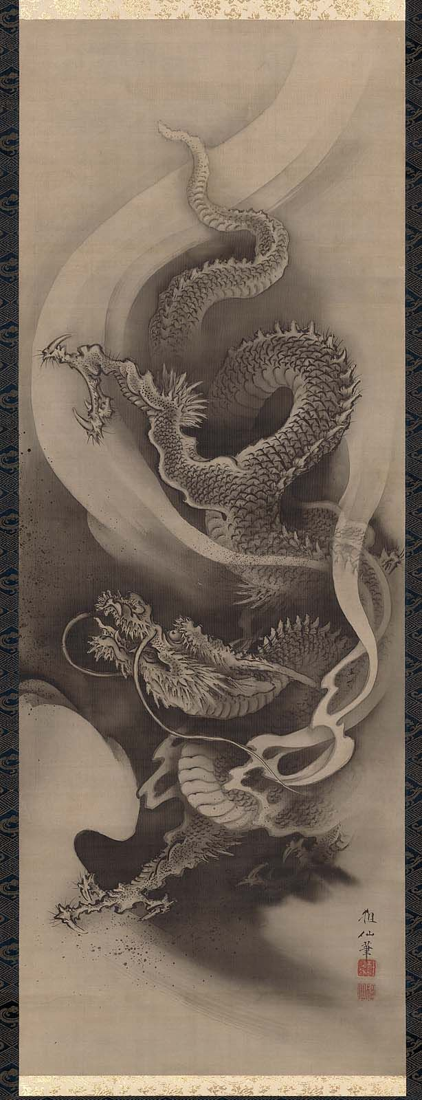 Dragon museum of fine arts boston hanging scroll ink for Japanese dragon painting