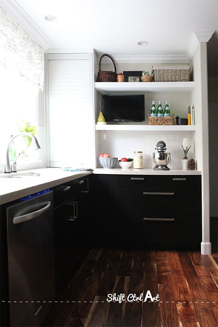How To Install A Tv In The Kitchen 1 Home Kitchens Small Space Kitchen Tv In Kitchen
