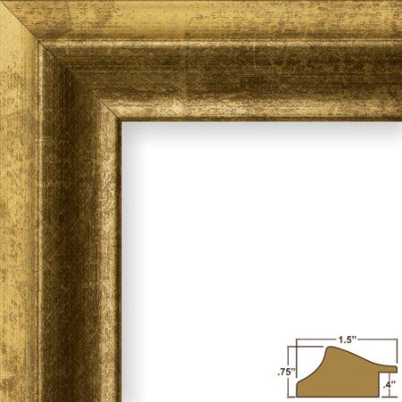 Amazon Com 11x17 Picture Poster Frame Smooth Wrap Finish 1 5 Wide Vintage Gold 203315 Craig Frames Vintage Picture Frames Picture Frames