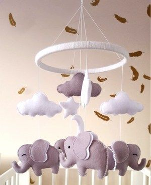 Baby mobile, elephant mobile, cot mobile, nursery mobile, baby shower gift, baby gift images