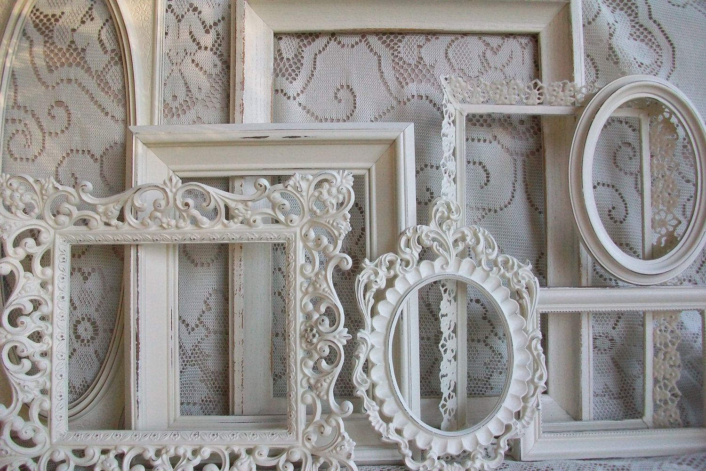White Picture Frame Set, Shabby Chic Large Heirloom White Vintage ...