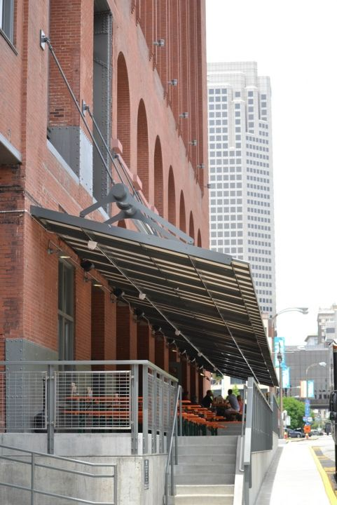 commercial metal awnings historic downtown - Google Search
