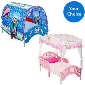 Character Corner Canopy Or Tent Toddler Beds W Mattress Your Choice Of Value Bundle