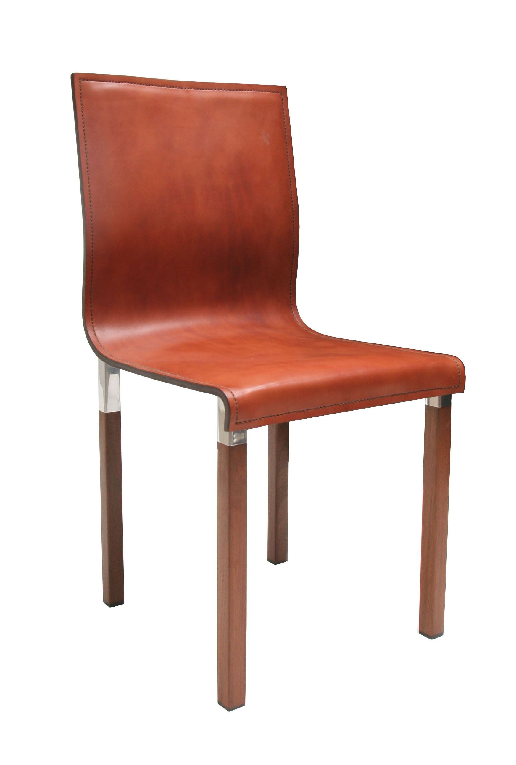 Buy emile leather dining chair by zele company made to order designer furniture from dering halls collection of mid century modern dining chairs