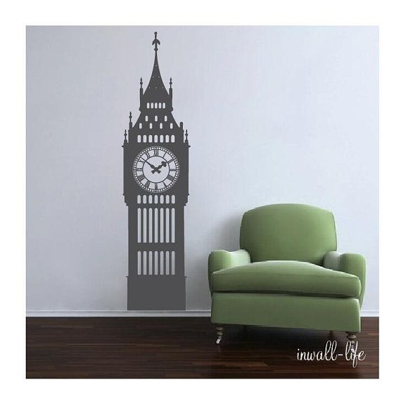 big ben clock wall decal vinyl wall art sticker homeinwalllife