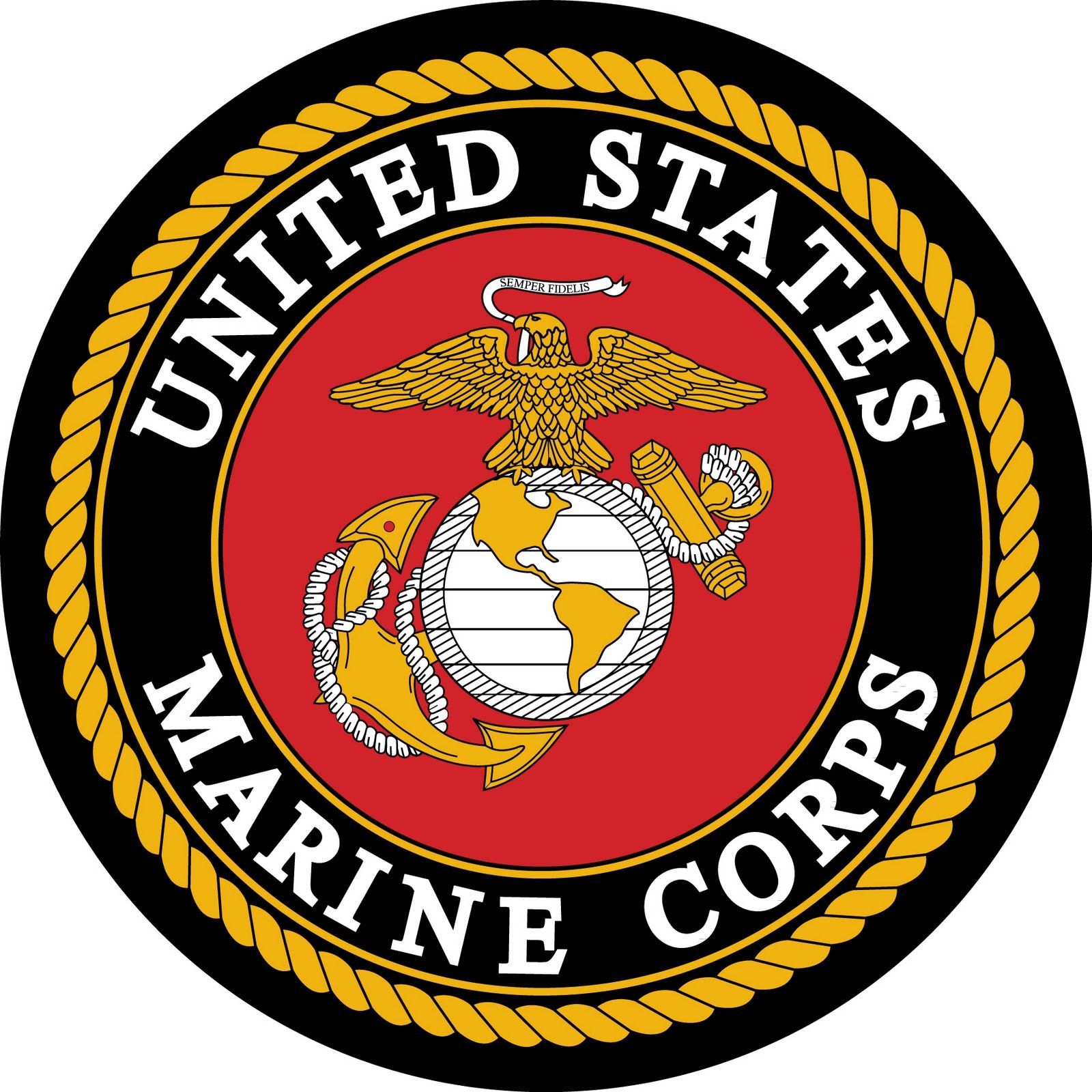image regarding Printable Marine Corps Emblem named USMC (United Says Maritime Corps) Inside THE Military