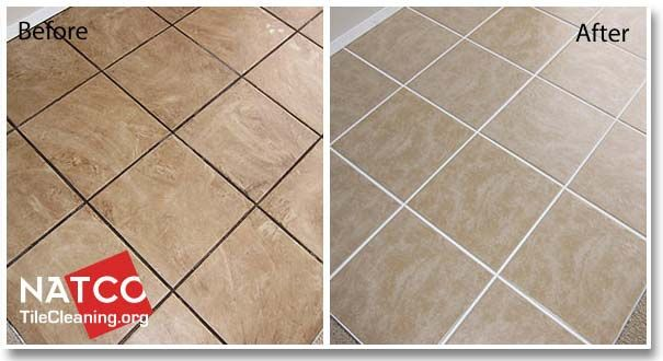 Before And After Cleaning Ceramic Tile Floor Lets Get Organized
