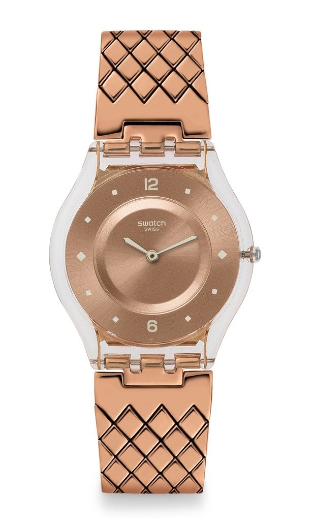 For the fashionista: Rose-gold, ultra thin Swatch watch - INCANTATA - For more great gift ideas: http://store.swatch.com/watches/skin/classic/sfk389gb-incantata.html