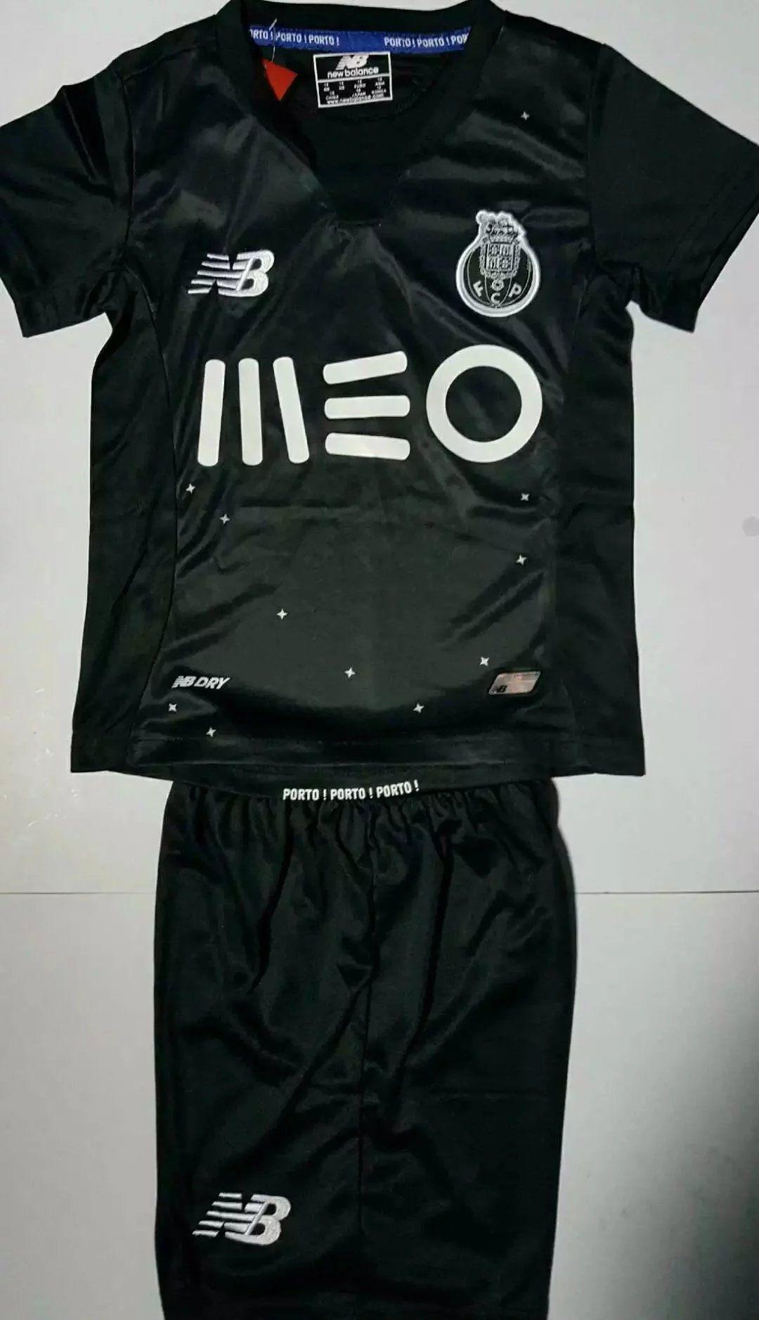 Psg black and pink jersey - Porto Black Kids Jersey
