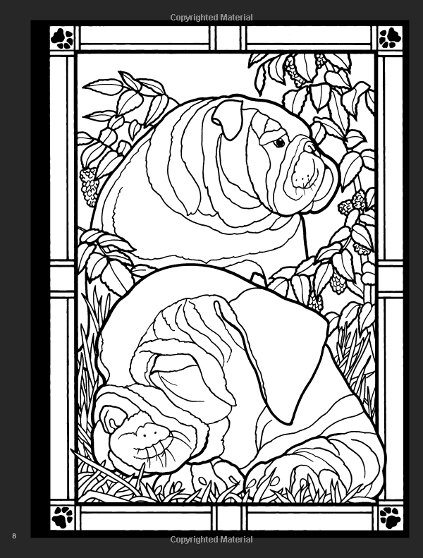 Dogs Stained Glass Coloring Book Dover Nature Stained Glass Coloring Book Ruth Soffer Coloring Books 0800759478026 Ama Stained Glass Stain Coloring Books