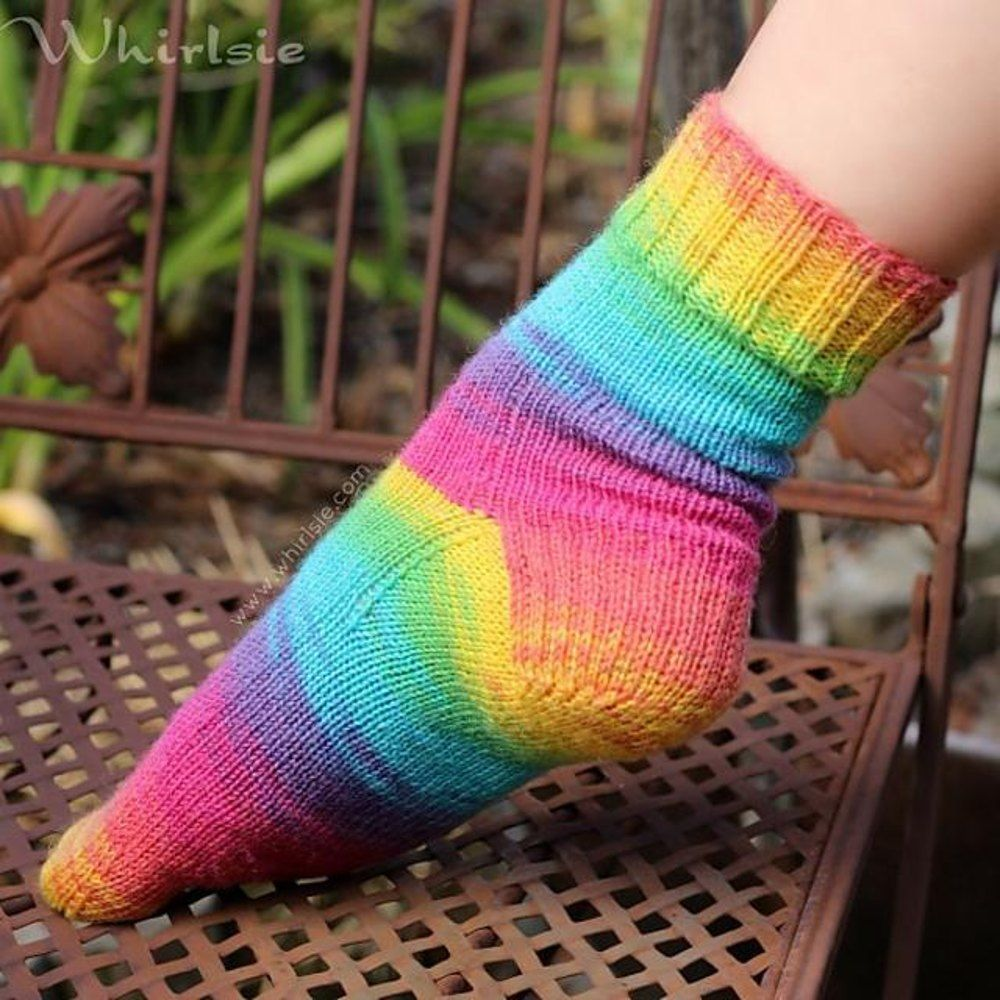 Free Sock knitting pattern - Whirlsie\'s Vanilla Socks. Download at ...