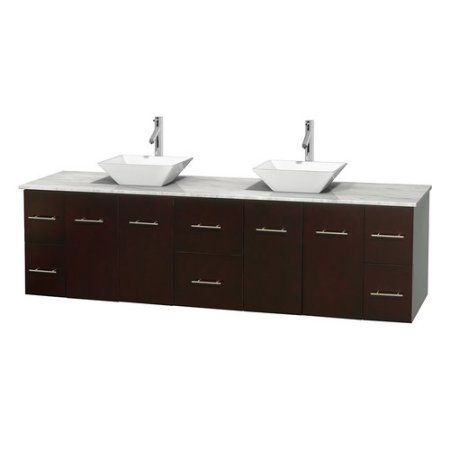 Wyndham Collection Centra 80 Inch Double Bathroom Vanity In Gray