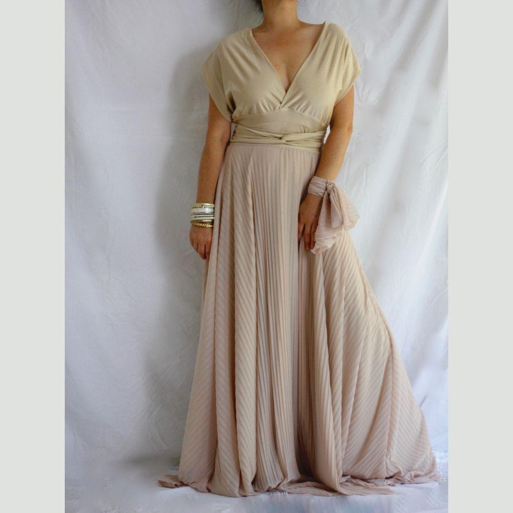 Bridesmaid sheer maxi dress boho wrap dress multiway plus