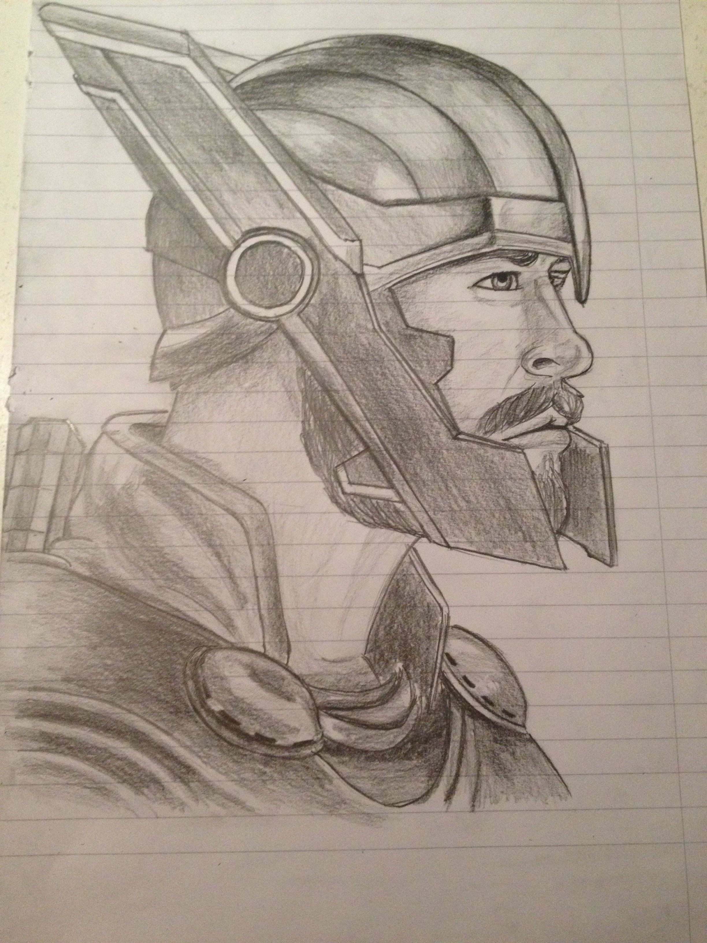 Grigorije S Drawing Of Thor Ragnarok Marvel Drawings Marvel Art Drawings Spiderman Art Sketch