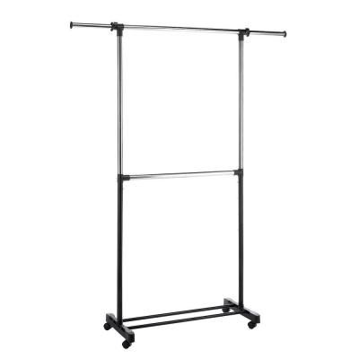 "Home Depot Garment Rack Beauteous Whitmor 3625"" X 7300"" Metal Adjustable 4Wheeled Garment Rack In Design Ideas"
