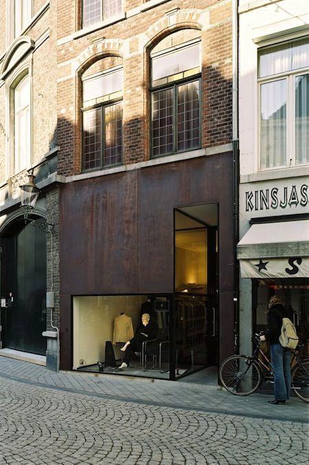 Beltgens Fashion Shop Par Wiel Arets Intriguing Store Exterior Barefootstyling