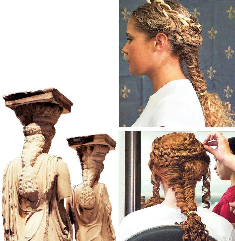 Ancient Greek Braids Roman Hairstyles Greek Hair Historical Hairstyles