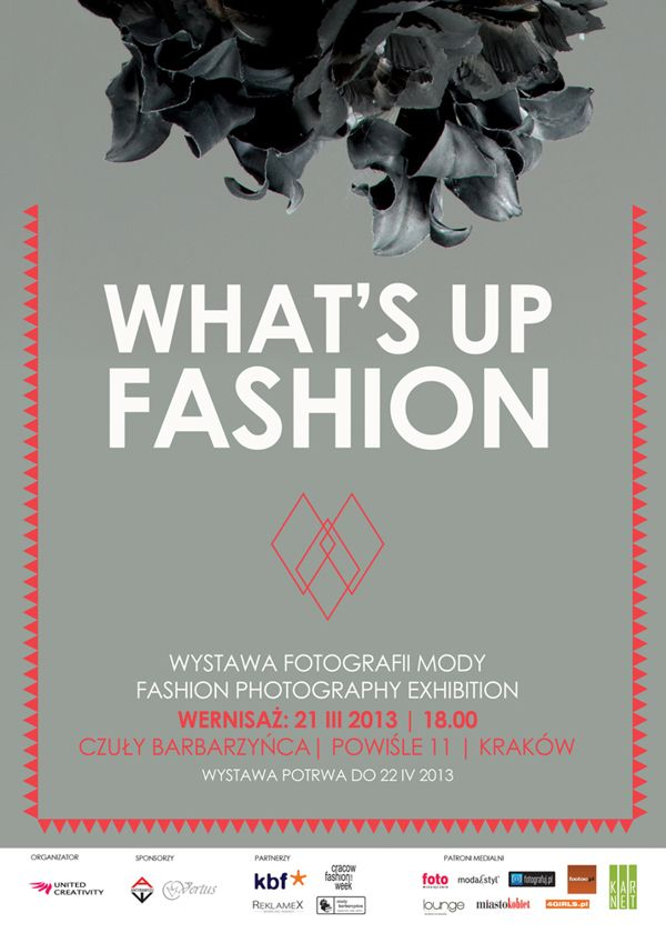 What\'s up fashion exhibition poster Cracow Fashion Week 2013 design ...