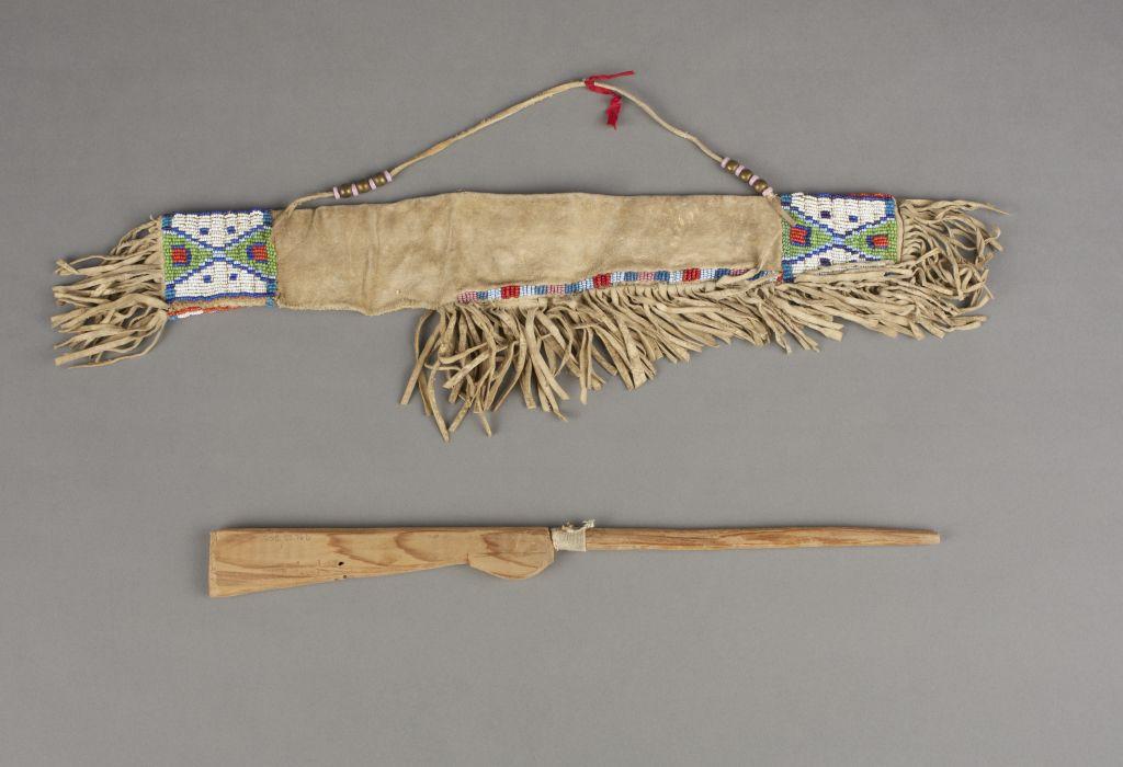 Игрушечное ружьё с чехлом. Шайены, 1890 год. 15,5 дюймов.
