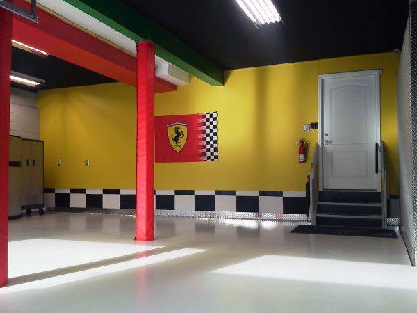 Ferrari Garage Paint Schemes Green Yellow And Red Color | Garage ...