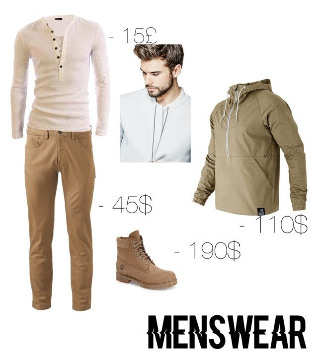 """""""Annanas by Iuliee"""" by annanasbyiuliee ❤ liked on Polyvore featuring Dockers, Timberland, GUESS, New Balance, men's fashion, menswear and slipons"""