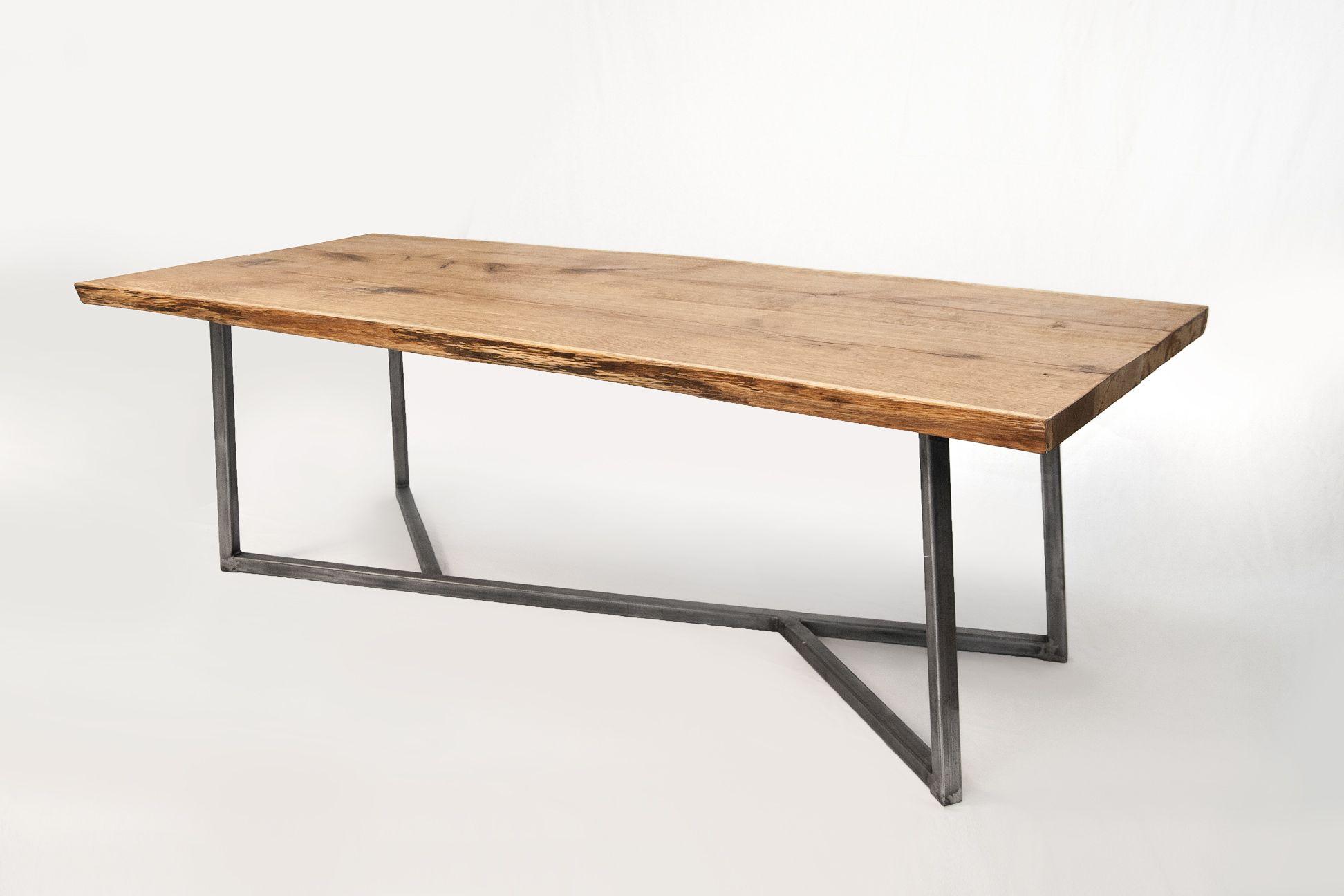 Oak Steel Table Xxl Http Www Nutsandwoods De Esstisch Stuhle Stahltisch Esstisch Eiche