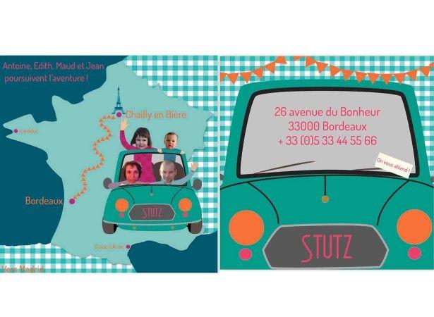 Carte carte postale d m nagement nouvelle adresse sur - Chambre syndicale des demenagement ...