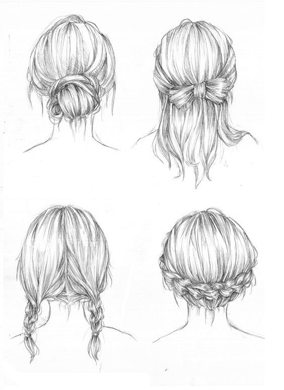 Back View of a Person drawing | drawing art hair girl people ...