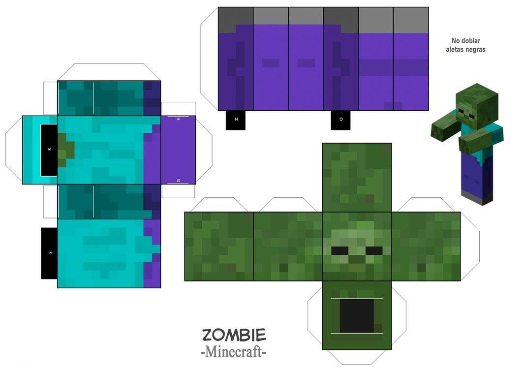Zombie  Minecraft, Desenhos minecraft, Desenho