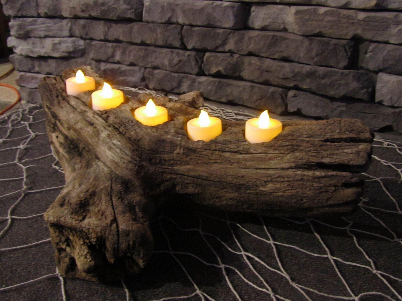 Driftwood Candle Holder Diy Pinterest Driftwood