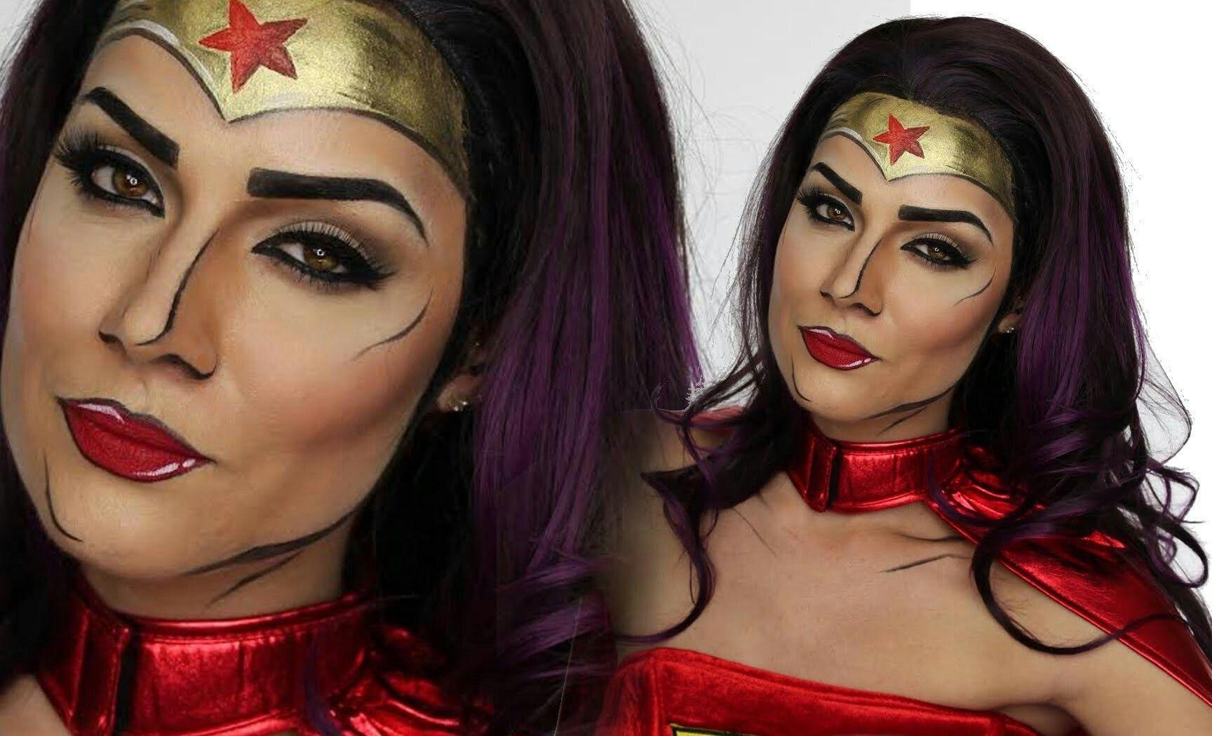 Pin by Jack Lapierre on face paint Wonder woman makeup