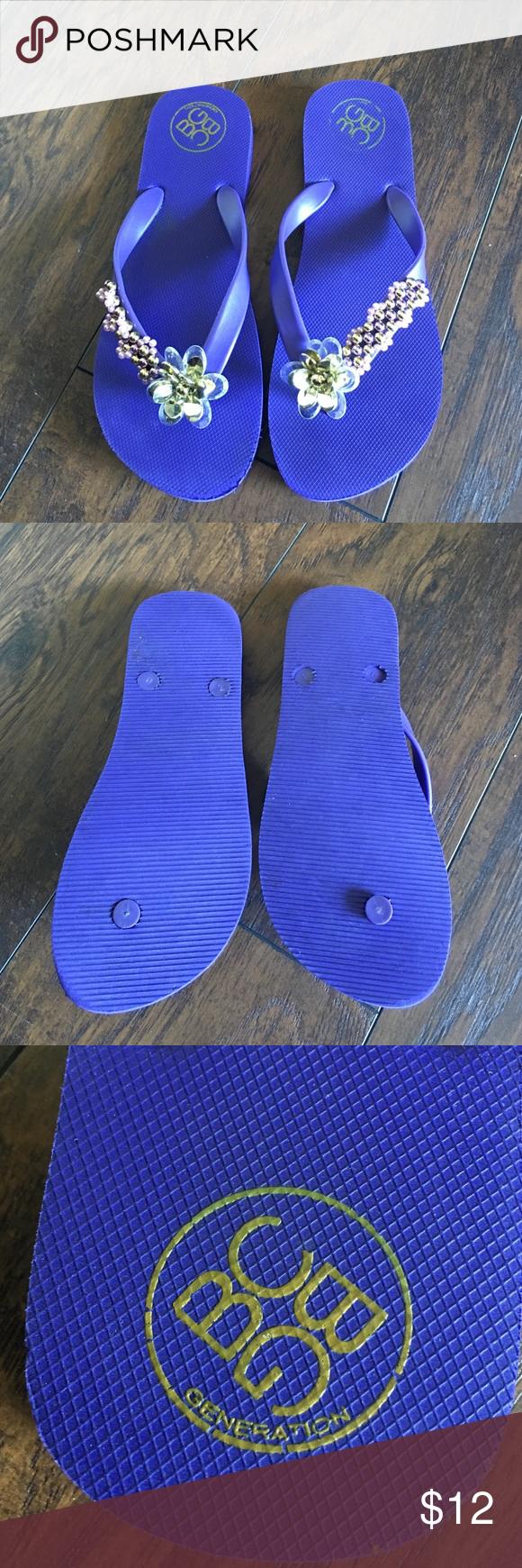 Bcbgeneration flip flops Worn a few times but great condition.  Shows little wear.  Cute beaded design BCBGeneration Shoes Sandals