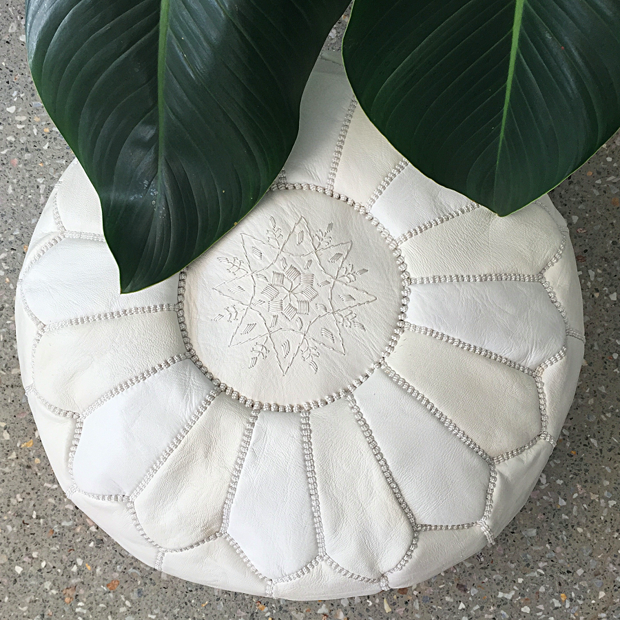 Moroccan Leather Pouffe White Maison Maisonthese Sensational Pouffes Would Look Superb In