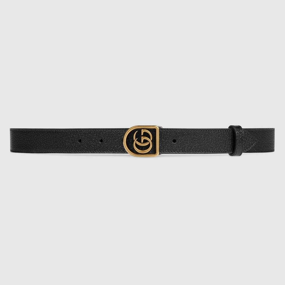 Shop The Leather Belt With Framed Double G By Gucci The Double G Is Reinterpreted For Cruise With A New F Gucci Leather Belt Casual Leather Belt Gucci Leather