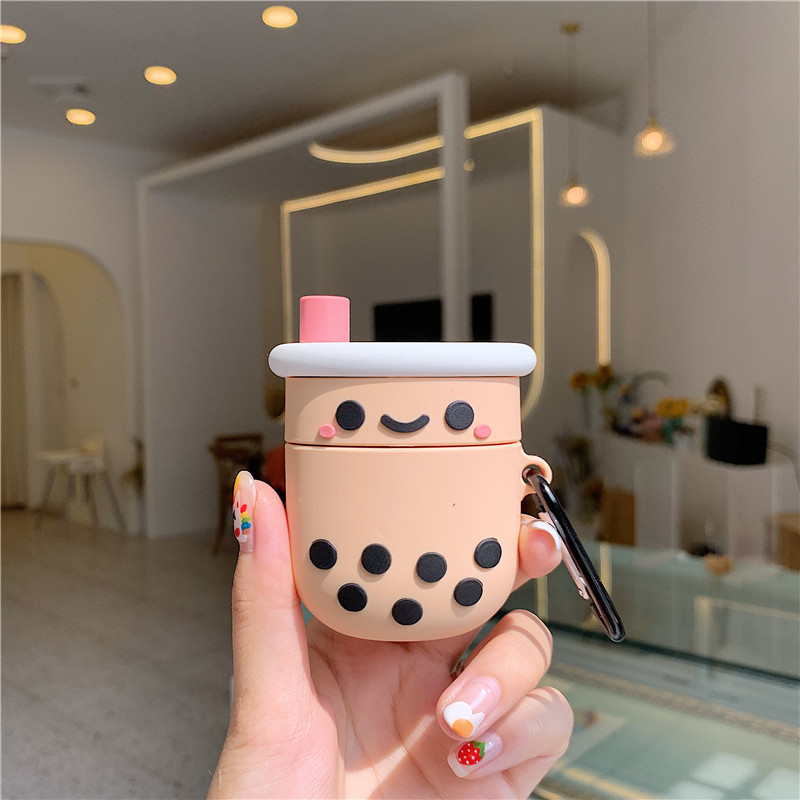Airpods Pro Case Cute Feeding Bottle Shape Soft Silicone Wireless Bluetooth Earphone Cases Cover Protective Skin for Airpod pro//Airpods 3 Pink